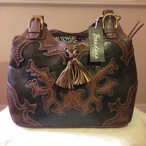 American West Bandana brown leather purse